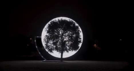 Tree-Monitoring Art Installations - 'Voice of Nature' Explores the Effects of Pollution on Trees