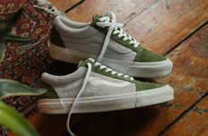 Fuzzy Branded Suede Sneakers