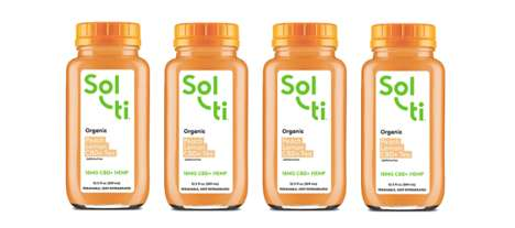 Cold Brew CBD-Infused Teas - The Sol-ti Peach Lemon CDB+ Tea is Flavorful and Beneficial