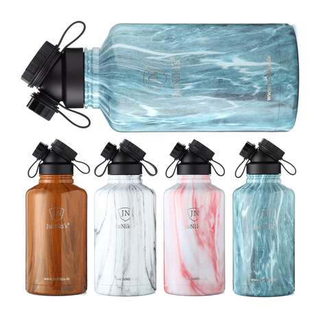 "Luxe Double-Neck Water Bottles - JuNiki is Touted as ""the World's Most Expensive Drinking Bottle"""