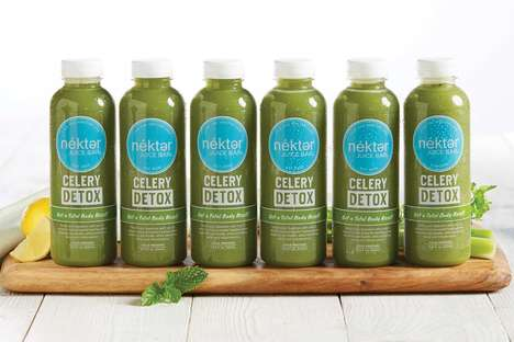 Celery Juice Cleanses - Nékter Juice Bar's Six-Day Celery Juice Detox Supports Healthy Digestion
