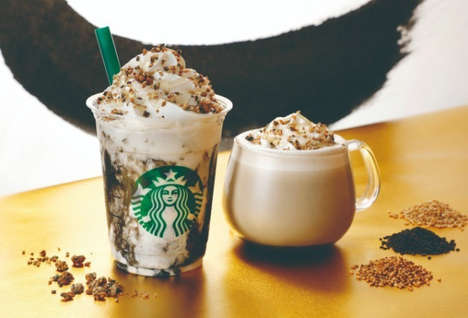 Black Sesame Seed Beverages - Starbucks Japan's 'Goma Goma Goma' Drinks Explore Sesame Seeds