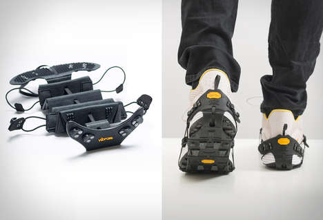 Durable Performance Shoe Soles - The Vibram Portable Performance Sole Offers Stability on Icy Ground