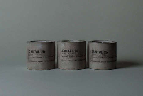 American-Made Concrete Candles