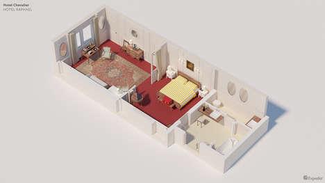 3D Hotel Floor Plans