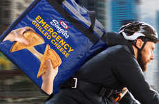 On-Demand Free Sandwich Deliveries - The Kraft Emergency Grilled Cheese Delivery Promotes Singles