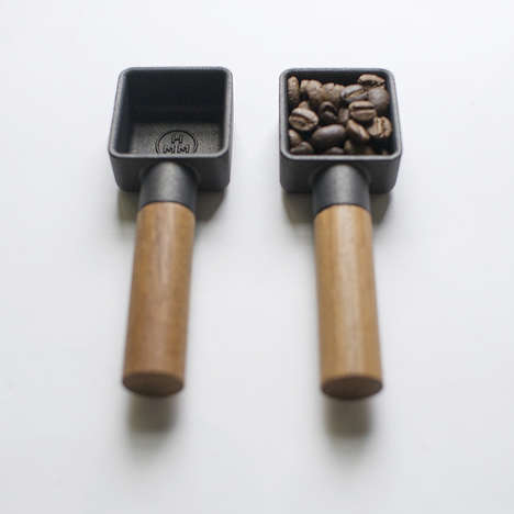 Cast Iron Coffee Scoops - The 'HMM Sqoop' Stylizes a Coffee Essential