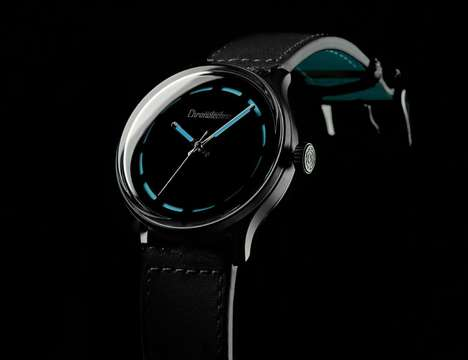 Onyx Diver Timepieces - The Chronotechna Uses the World's Blackest Pigment to Help Divers
