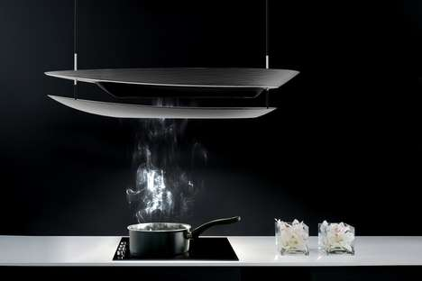 Modernized Cooking Space Covers - This Open-Concept Range Hood by Myung Ah Lee is Stealthy