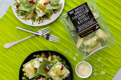 Veggie-Filled Pasta Pockets - Trader Joe's Seasonal Ravioli is Stuffed with Brussels Sprouts