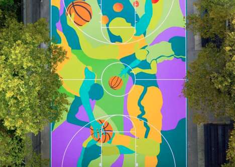 Large-Scale Basketball Court Murals