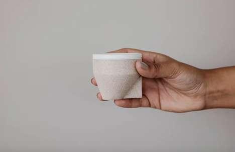 Sand-Made Coffee Cups