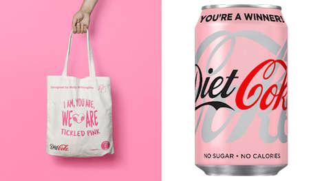 Playful Awareness-Raising Pink Cans