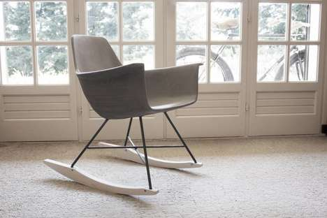 Concrete Midcentury Modern Chairs