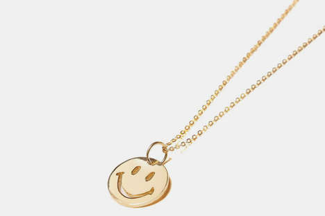 Minimalist Smiley Face Pendants