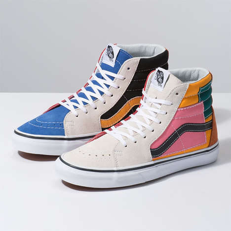Colourful Patched High-Tops