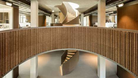 Modern Nonprofit Organization Headquarters - Promontorio's Design for GS1 Boasts a Stylish Staircase