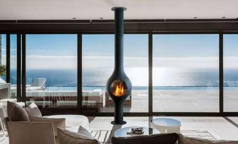 Bulbous Living Space Fireplaces