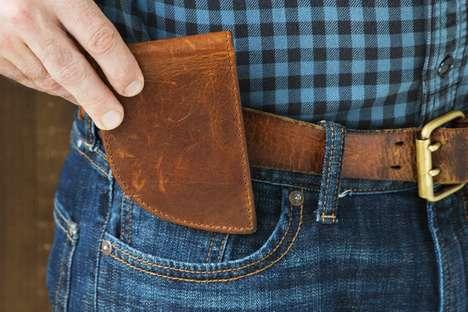 Curved Front Pocket Wallets