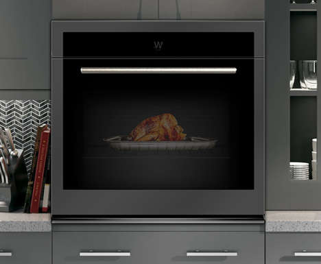 Connected AR Ovens - The Whirlpool Connected Hub Wall Oven Features a Touchscreen & AR Tech
