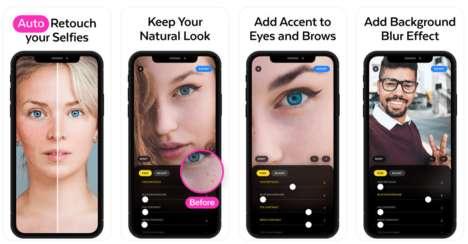 Corrective AI Photo Apps