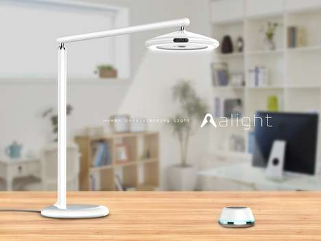 AI-Integrated Desk Lights - The 'alight' Desk Lamp Helps Users Focus, Relax and More Using Light