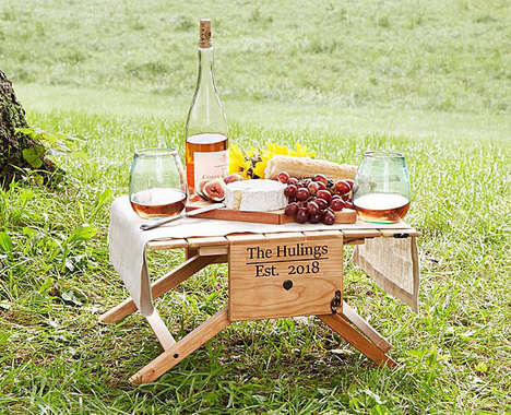 Transforming Picnic Carriers - This Picnic Table Wine Carrier by Mike Blaschka is Multifunctional