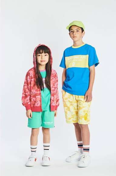 Colorful Camo Kids Streetwear