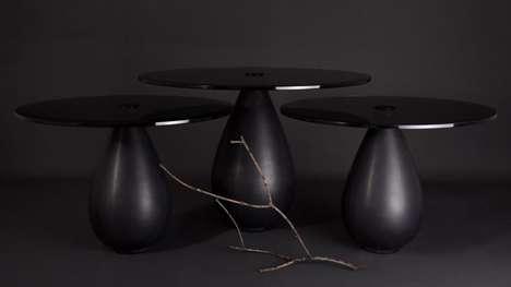 Craftsmanship-Informed Small Black Tables