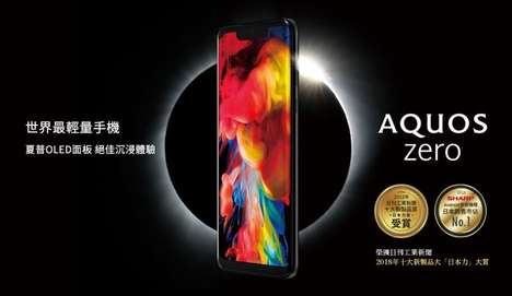 Lightweight OLED Smartphones - The Sharp Aquos Zero Has a QHD+ Resolution and More