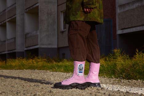 High-Cut Rubberized Plastic Boots