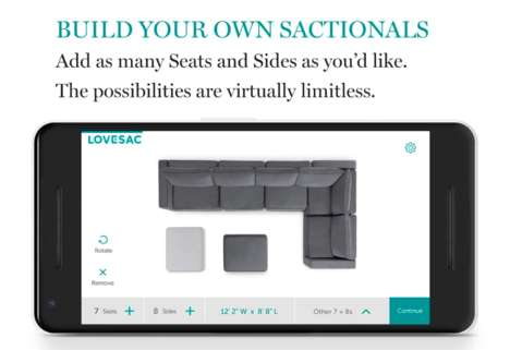 Couch Creation Apps - The Lovesac App Helps Consumers Create the 'Lovesac Sactional' of Their Dreams