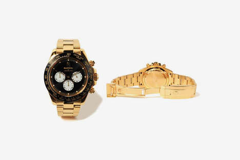 Golden Glow-In-The-Dark Timepieces