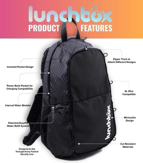 Compact Music Festival Bags