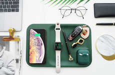 Elegant Wireless Charger Trays - The Gaze Tray Organizes and Charges All Your Devices