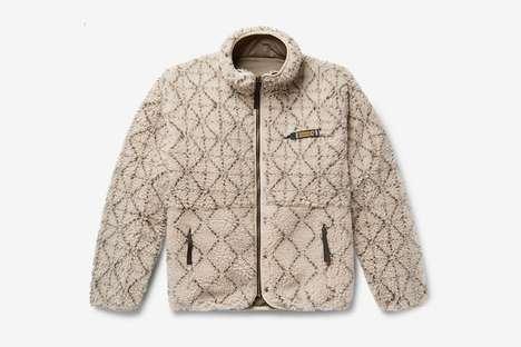 Japan-Inspired Print Fleece Jackets
