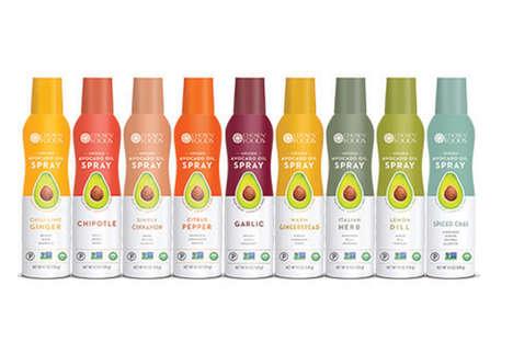 Infused Avocado Oil Sprays