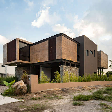 Contemporary Mexican Living Abodes - Di Frenna Arquitectos' Design Features Multiple Box Volumes
