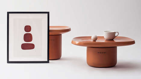 Irregular Terracotta Table Designs