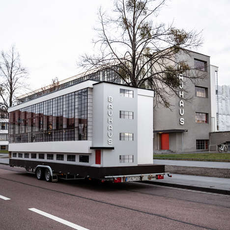Touring Bauhaus Buses - Van Bo Le-Mentzel Designs a Traveling, Architectural, Apartment-Like Vehicle