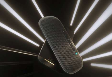 Ultra-Thin Travel Speakers - The Lenovo 700 Ultraportable Bluetooth Speaker was Shown at CES 2019