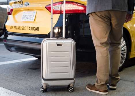 Durable Tech-Infused Suitcases - 'SkyValet' Smart Luggage is TSA Compliant and Sleek