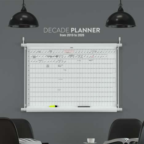 10-Year Wall Calendars - Workhow's 'Decade Planner' Organizes One's Events from 2019 to 2028