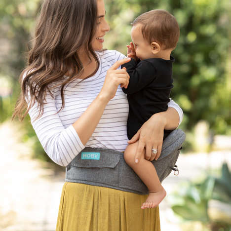 Transformative Baby Carriers - MOBY's 2-in-1 Baby Carrier + Hip Seat Supports Newborns and Toddlers