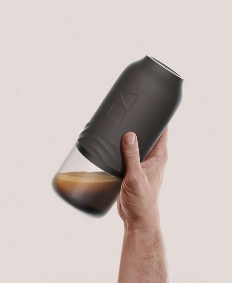 Handheld Canister Coffee Brewers - The Conceptual 'Daily Addiction 2.0' Coffee Maker Works Anywhere