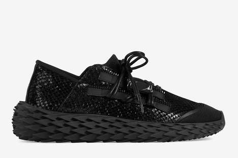 All-Over Monochrome Python Shoes - Giuseppe Sanotti Unveils Two New Colorways of the Urchin Sneaker