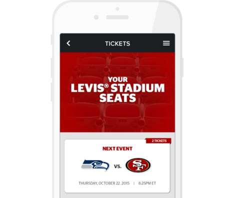 Operation-Assisting Venue Apps - The Levi's Stadium Offers Everyone a State-of-the-Art Experience