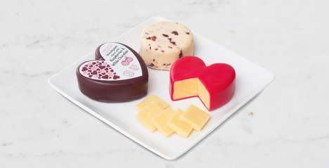 Heart-Shaped Cheeses