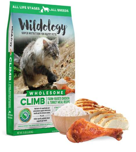 Activity-Boosting Cat Food - The Wildology CLIMB Cat Food Mix is Nutritious and Targets Active Cats