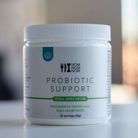 Pet-Friendly Probiotic Powders - NomNomWow's Probiotic Support Blend Helps Maintain Gut Health